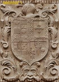 Escudo de la calle Selgás, original del siglo XVII y corresponde a la familia Palacios de Urdaniz y Teruel. Ubicación actual: Corredera.