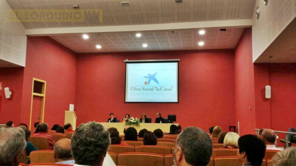 FOTO: durante la presentación del libro ayer en el IES Arcas Meca.