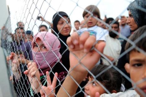 Refugiados sirios.   Afp