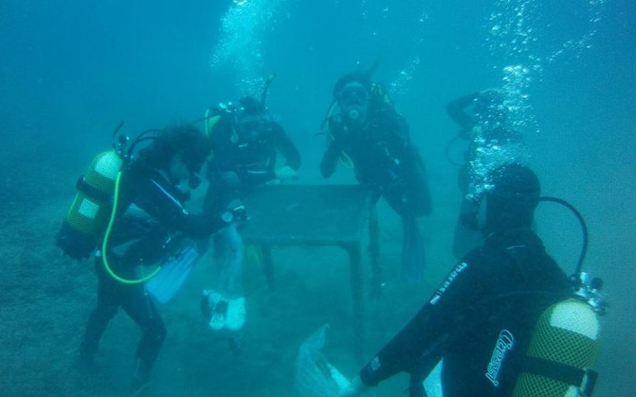 limpieza de mazarron fondos marinos
