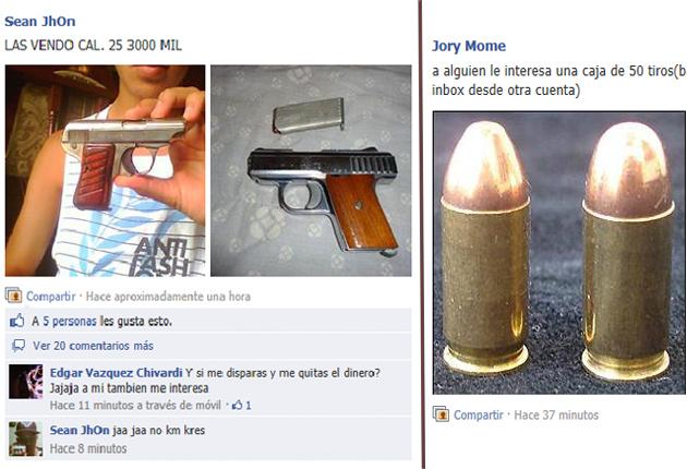 ejemplo venta de arma de fuego
