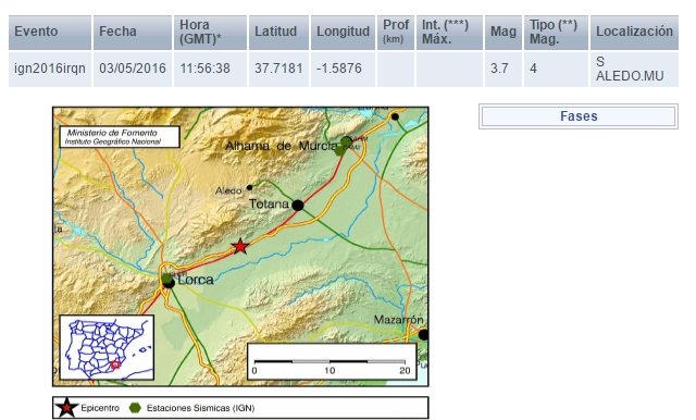 terremoto lorca 3,7 grados