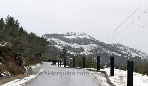 Restablecidas las comunicaciones con las pedanías de Lorca tras la nieve