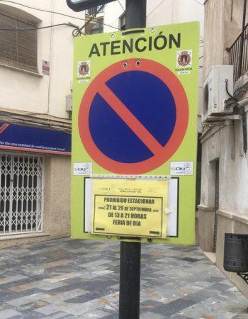 Del 21 al 29 de septiembre estas calles permanecerán cerradas al tráfico por la Feria y Fiestas de Lorca
